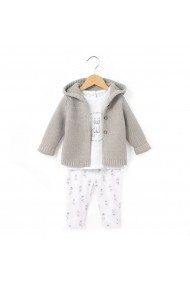 Set cardigan, tricou si colanti La Redoute Collections LRD-GCD759 multicolor