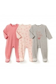 Set 3 perechi pijamale La Redoute Collections GCS805 multicolor