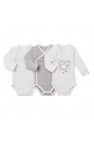 Set 3 bodyuri La Redoute Collections GCS868 alb