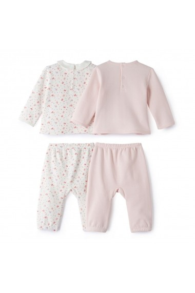 Set 2 perechi pijamale La Redoute Collections LRD-GCY196 roz
