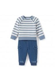 Set pulover si jeansi La Redoute Collections GDB438 albastru