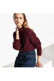 Pulover La Redoute Collections GDD163 Bordo - els