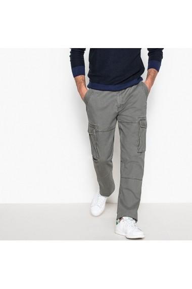 Pantaloni La Redoute Collections GDD766 gri - els