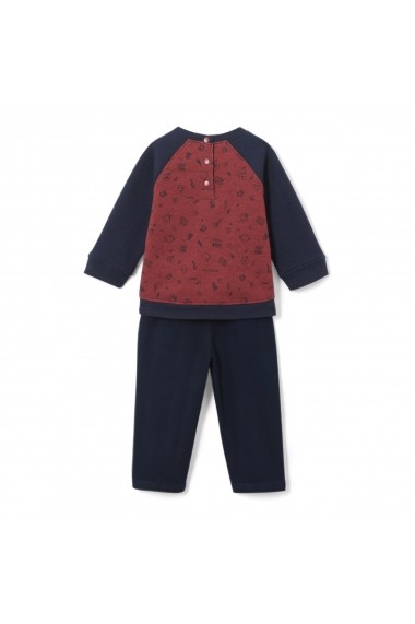 Set pulover si pantaloni La Redoute Collections GDF977 albastru