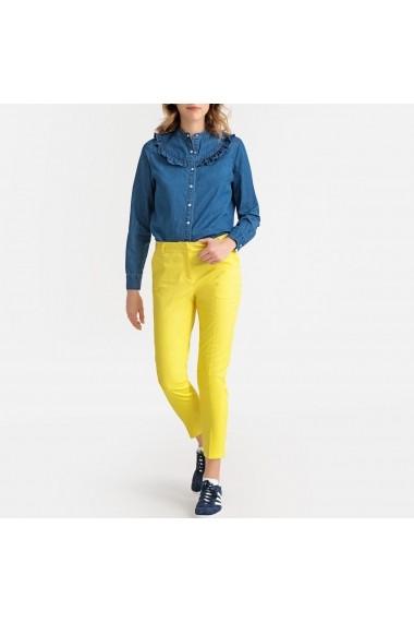 Pantaloni drepti La Redoute Collections GDJ194 galben