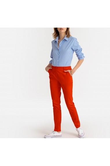 Pantaloni drepti La Redoute Collections GDJ194 portocaliu