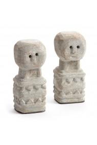 Set 2 obiecte decorative AM.PM GDL056 maro - els