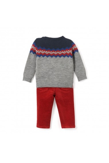 Set pulover si pantaloni La Redoute Collections GDM755 bleumarin