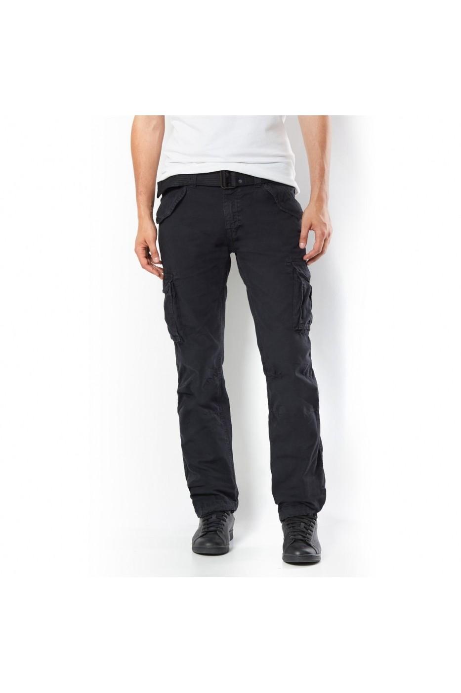 67173c1d82 SCHOTT Hosszu szárú nadrágok LRD-GDN497_negru_els Fekete - FashionUP!