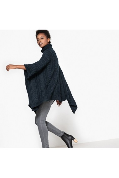 Poncho La Redoute Collections GDQ460 bleumarin