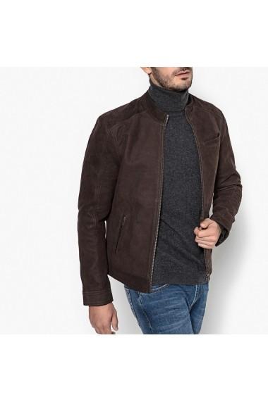 Jacheta din piele La Redoute Collections GDU474 maro