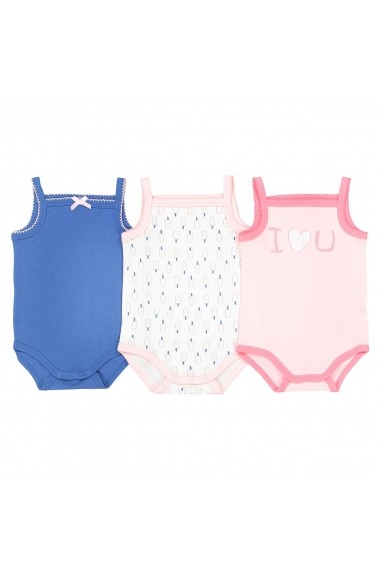 Set 3 body-uri La Redoute Collections GDV813_Bleu-rose Albastru