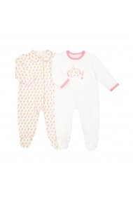 Set 2 perechi pijamale La Redoute Collections GDV822_Ecru-rose Ecru
