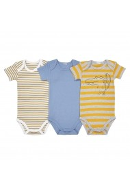 Set 3 bodyuri La Redoute Collections GDW099 albastru