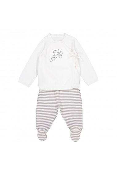 Set bluza si pantaloni La Redoute Collections GDW715 alb