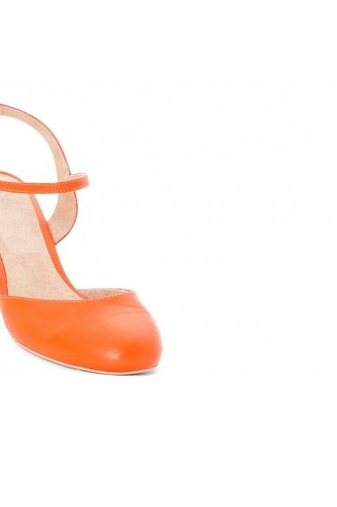Pantofi cu toc La Redoute Collections GDW839 portocaliu