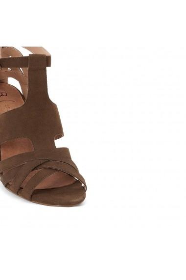 Sandale cu toc La Redoute Collections GDZ016 kaki
