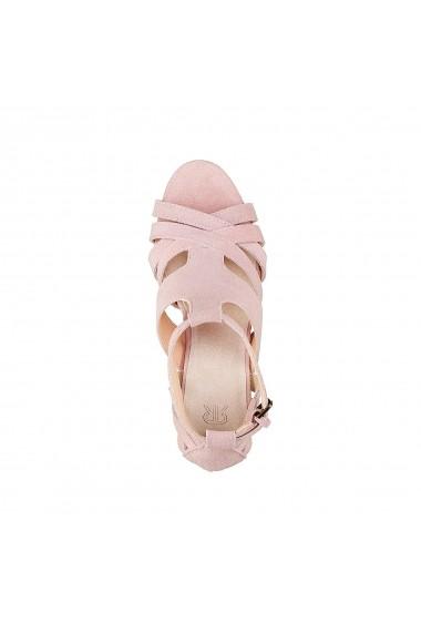 Sandale cu toc La Redoute Collections GDZ016_Nude Nude