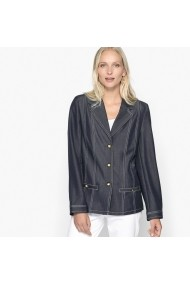 Jacheta din denim ANNE WEYBURN GEA303 Bleumarin