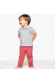 Tricou polo La Redoute Collections GEB025 gri