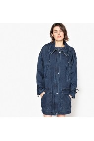Jacheta din denim La Redoute Collections GEE456 Bleumarin