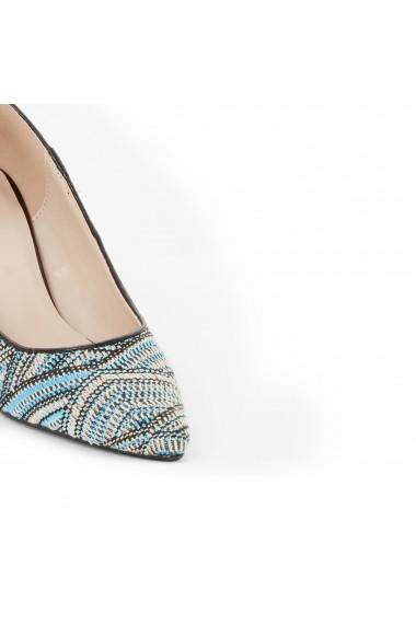 Pantofi cu toc La Redoute Collections GEE551 albastru
