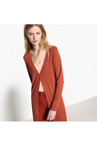 Cardigan La Redoute Collections GEE755 maro