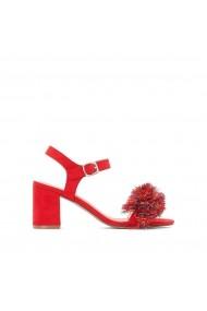 Sandale cu toc La Redoute Collections GEG183 corai