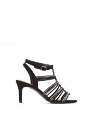 Sandale cu toc La Redoute Collections GEG224 negru - els