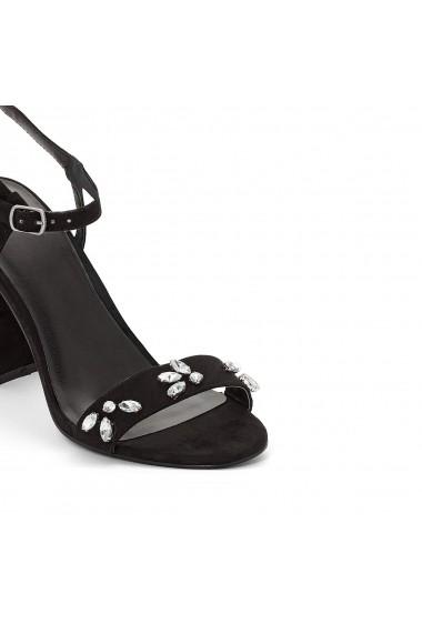 Sandale cu toc MADEMOISELLE R GEG304 negru - els