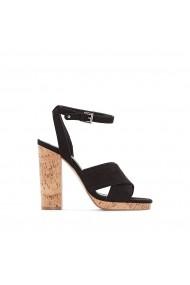 Sandale cu toc La Redoute Collections GEG307 negru - els