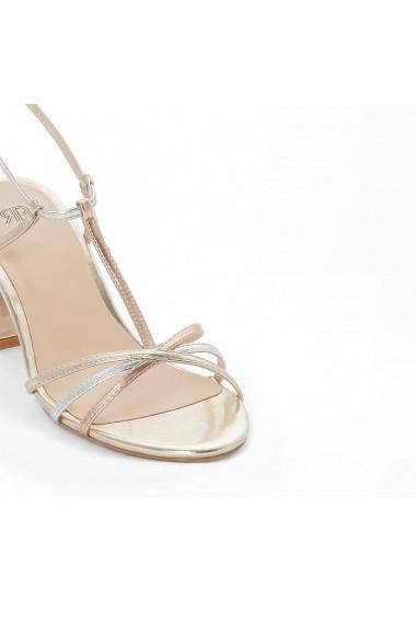 Sandale cu toc La Redoute Collections GEG408 auriu - els