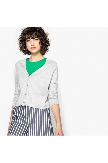 Cardigan La Redoute Collections GEG828 gri - els