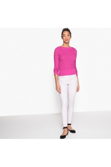 Pulover La Redoute Collections GEH240 fuchsia