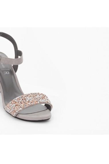 Sandale cu toc MADEMOISELLE R GEH957 gri - els