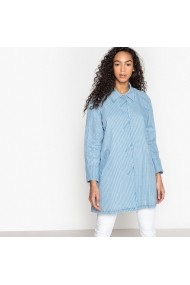 Jacheta din denim La Redoute Collections GEH965 Albastra