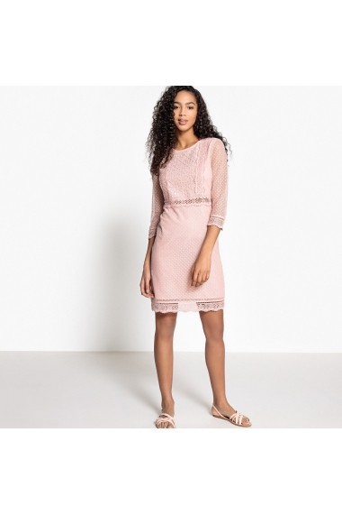 Rochie La Redoute Collections GEL590_Rose-poudre Roz