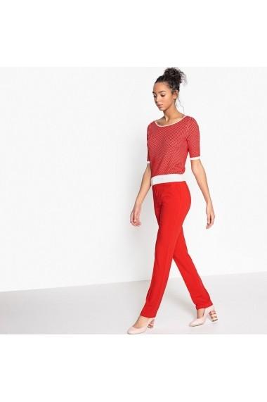 Pantaloni La Redoute Collections GEN110_Rouge Rosu