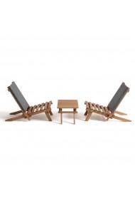 Set 3 piese de mobilier gradina La Redoute Interieurs GEN656 gri