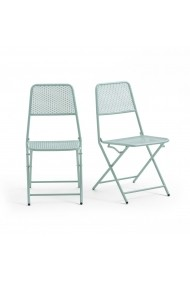 Set 2 scaune pliante pentru gradina Oslo La Redoute Interieurs GEP268 verde