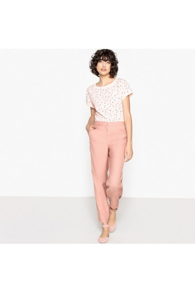 Pantaloni La Redoute Collections GEQ306 roz