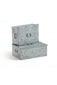 Set de cutii pentru depozitare Loupi La Redoute Interieurs GEQ880 gri