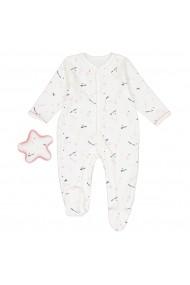 Pijama tip salopeta La Redoute Collections GES259 alb