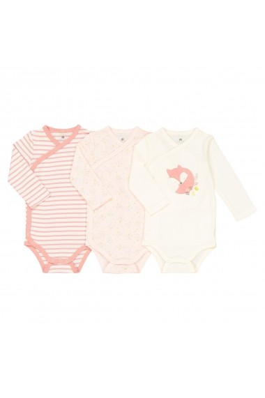 Set 3 body-uri La Redoute Collections GES513 alb