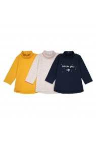 Set de trei bluze La Redoute Collections GET672 galben