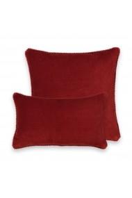 Huse perna decorativa Velvet La Redoute Interieurs GEW992 45x45 cm rosu