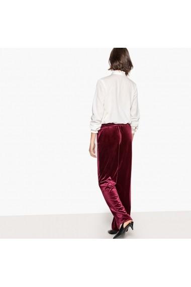 Pantaloni largi La Redoute Collections GEX476 bordo