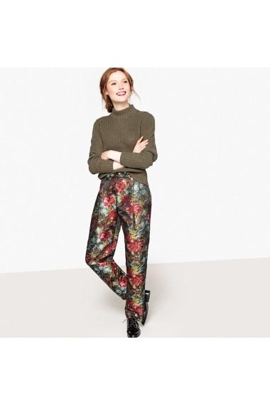 Pantaloni drepti La Redoute Collections GEX745 rosu