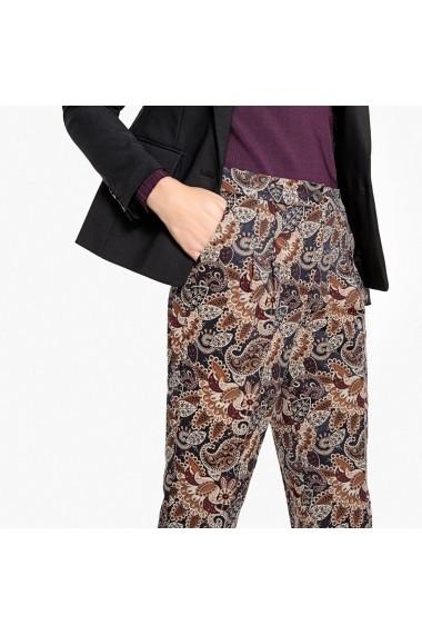 Pantaloni drepti La Redoute Collections GEX761 maro