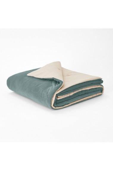 Cuvertura de pat Velvet La Redoute Interieurs GEY181 90x190 cm verde